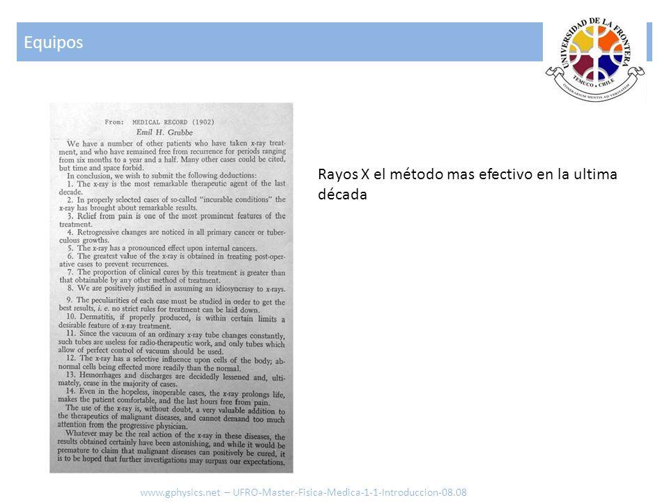 Equipos Rayos X el método mas efectivo en la ultima década