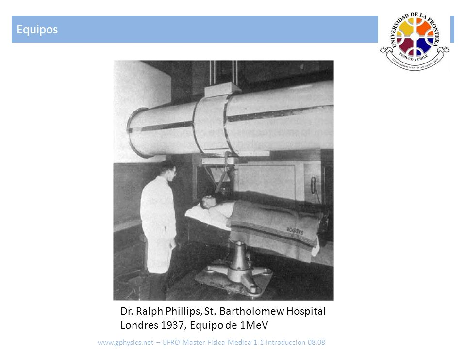 Equipos Dr. Ralph Phillips, St. Bartholomew Hospital