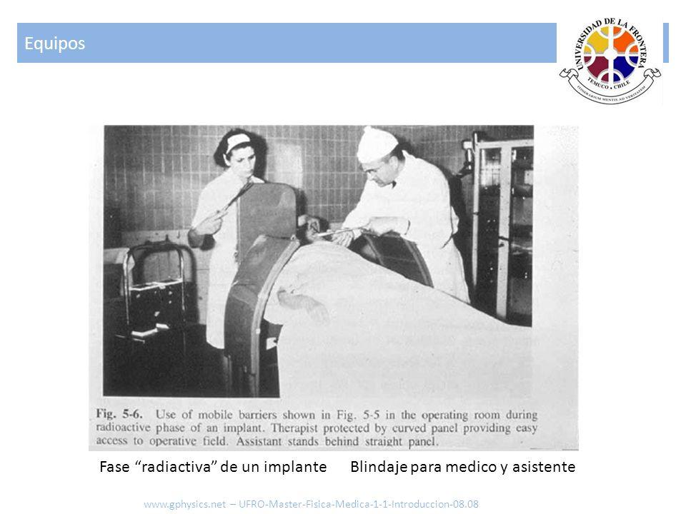 Equipos Fase radiactiva de un implante