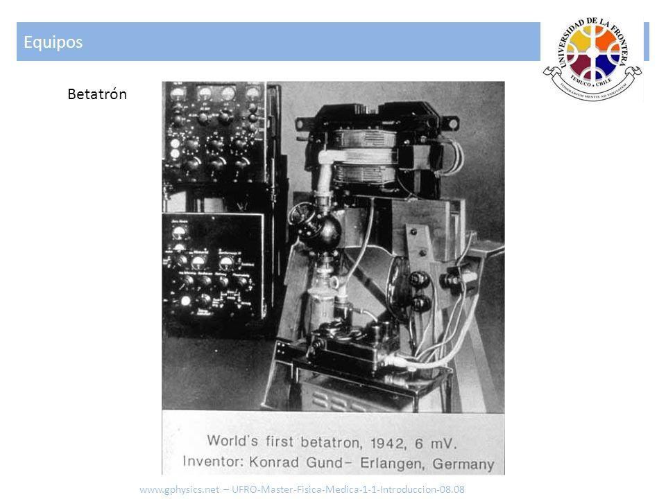 Equipos Betatrón www.gphysics.net – UFRO-Master-Fisica-Medica-1-1-Introduccion-08.08