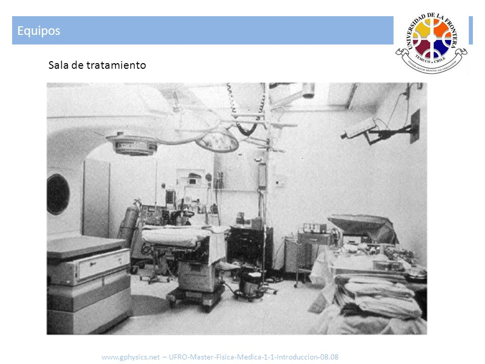 Equipos Sala de tratamiento