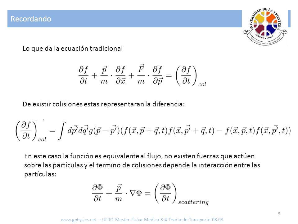 Recordando Lo que da la ecuación tradicional