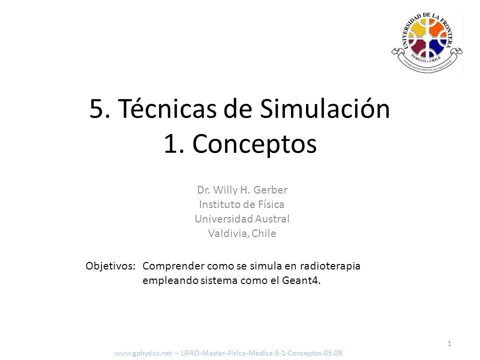 5. Técnicas de Simulación 1. Conceptos
