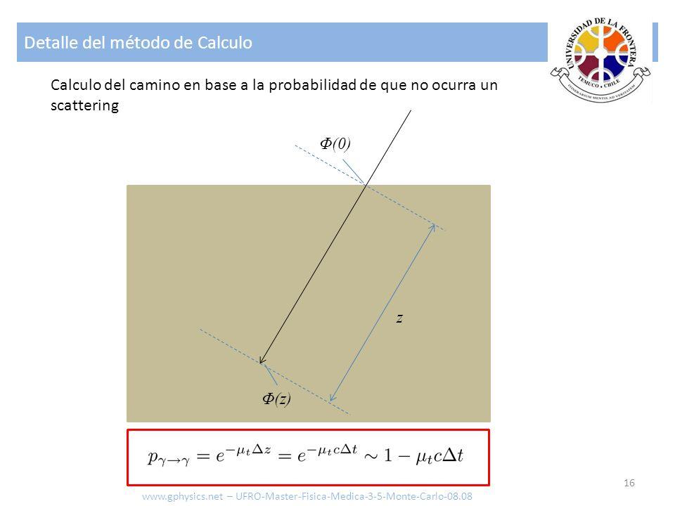 Detalle del método de Calculo