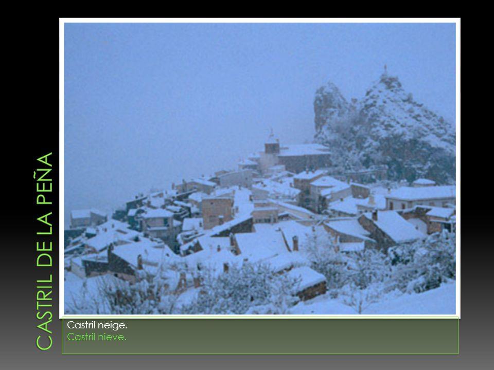 Castril de la peña Castril neige. Castril nieve.