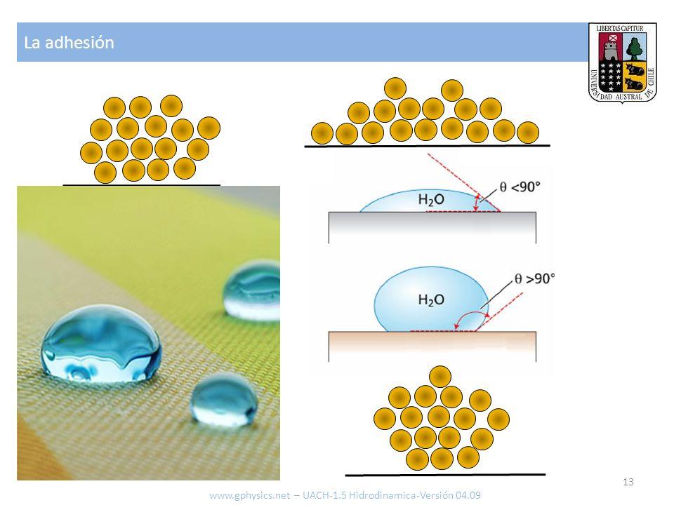 La adhesión www.gphysics.net – UACH-1.5 Hidrodinamica-Versión 04.09