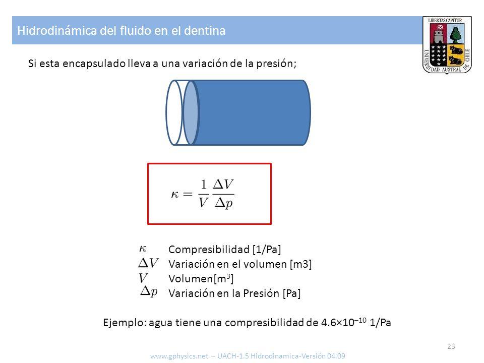 Hidrodinámica del fluido en el dentina