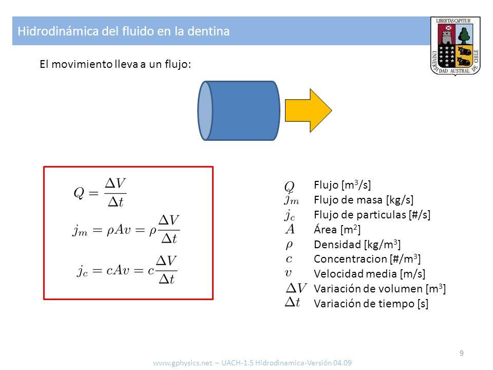 Hidrodinámica del fluido en la dentina