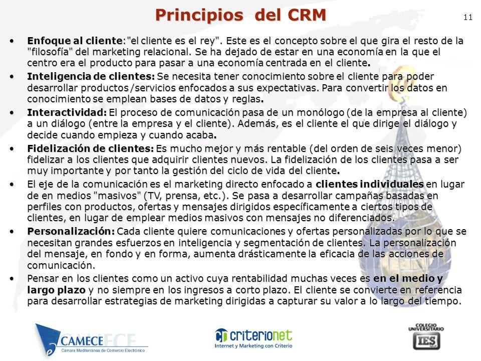 Principios del CRM 11.
