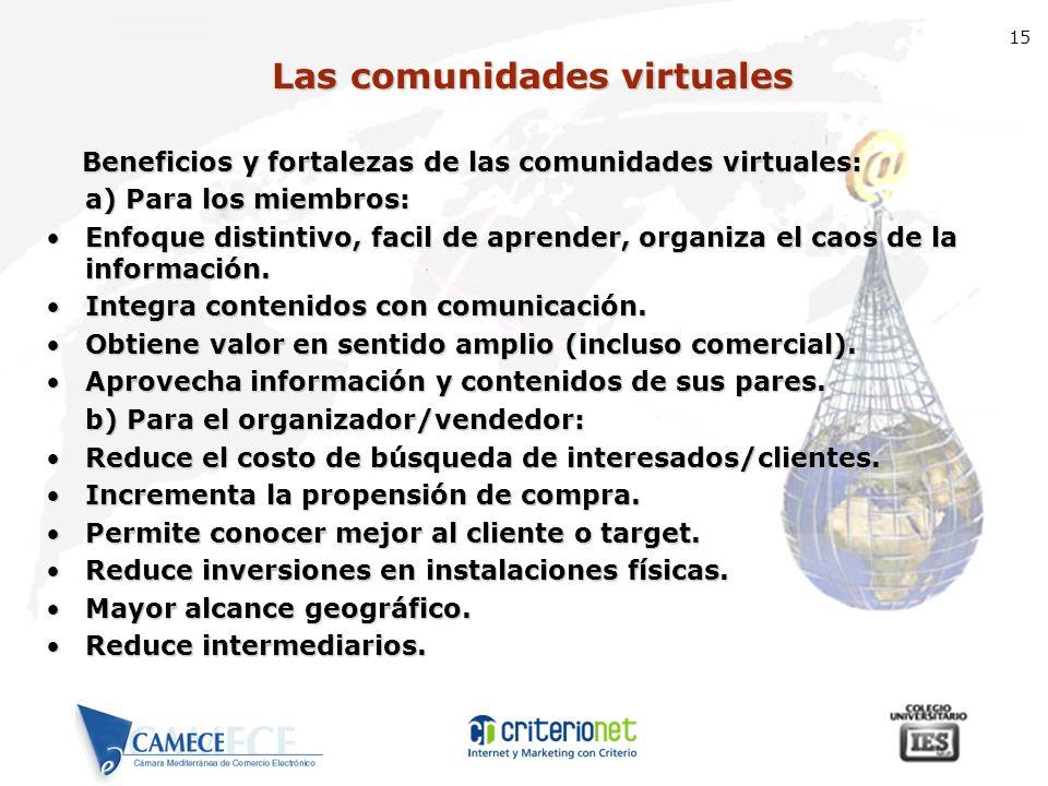 Las comunidades virtuales