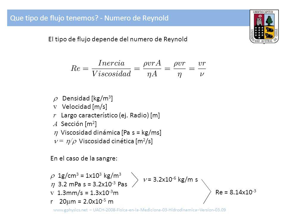 Que tipo de flujo tenemos - Numero de Reynold