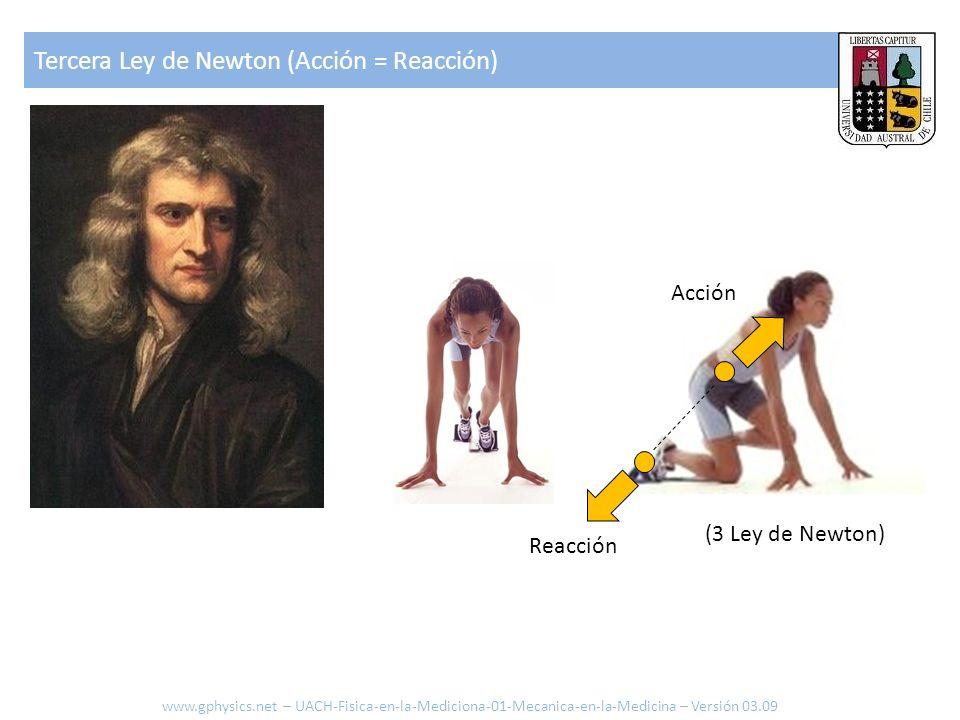 Tercera Ley de Newton (Acción = Reacción)