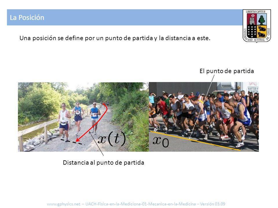 La Posición Una posición se define por un punto de partida y la distancia a este. El punto de partida.