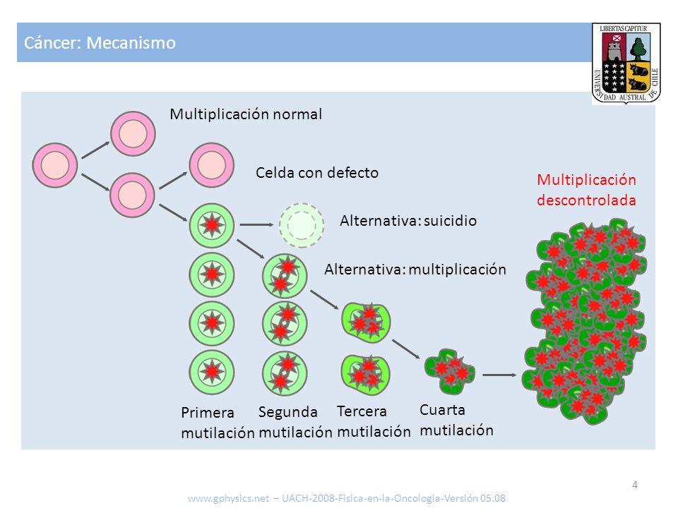 Cáncer: Mecanismo Multiplicación normal Celda con defecto