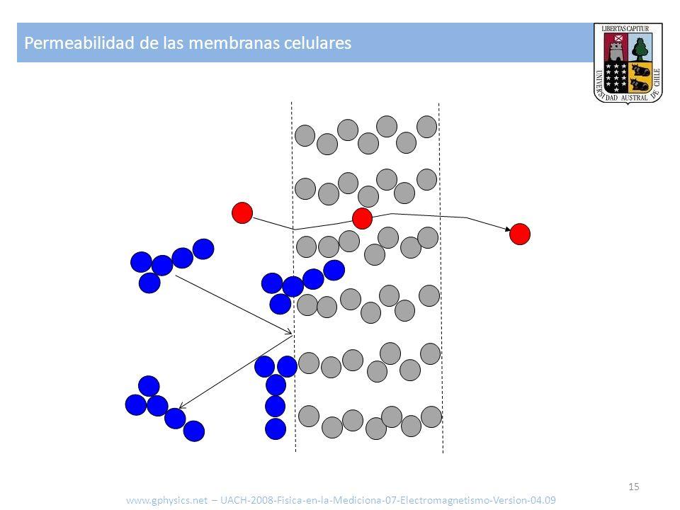 Permeabilidad de las membranas celulares