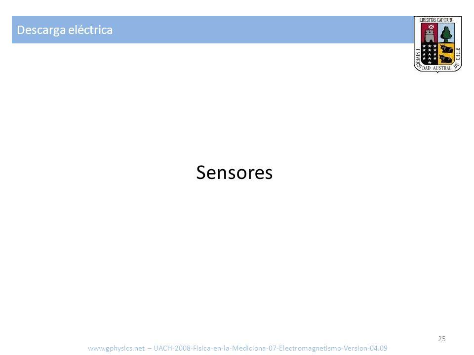 Sensores Descarga eléctrica