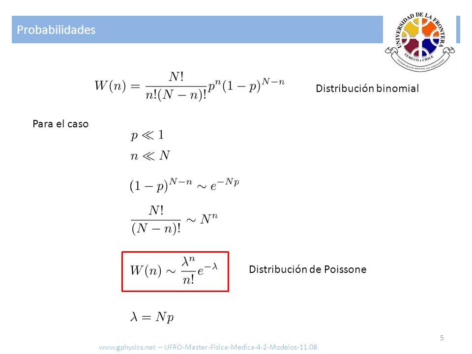 Probabilidades Distribución binomial Para el caso