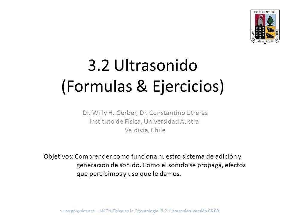 3.2 Ultrasonido (Formulas & Ejercicios)