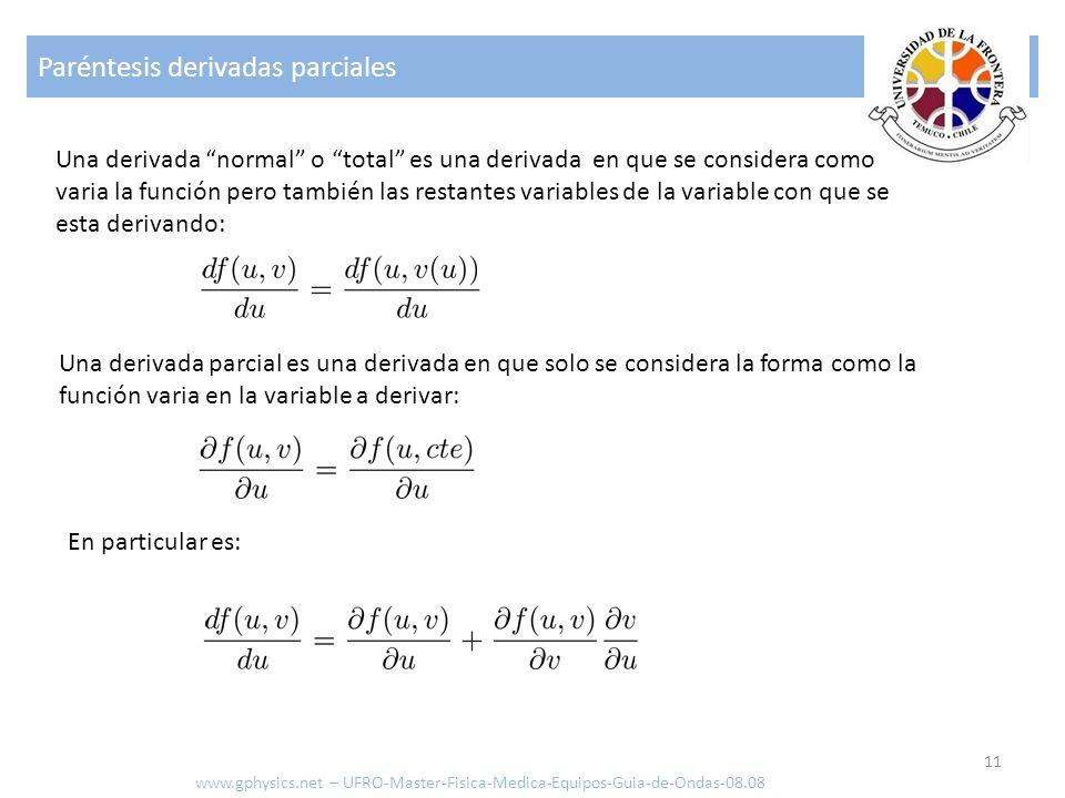 Paréntesis derivadas parciales