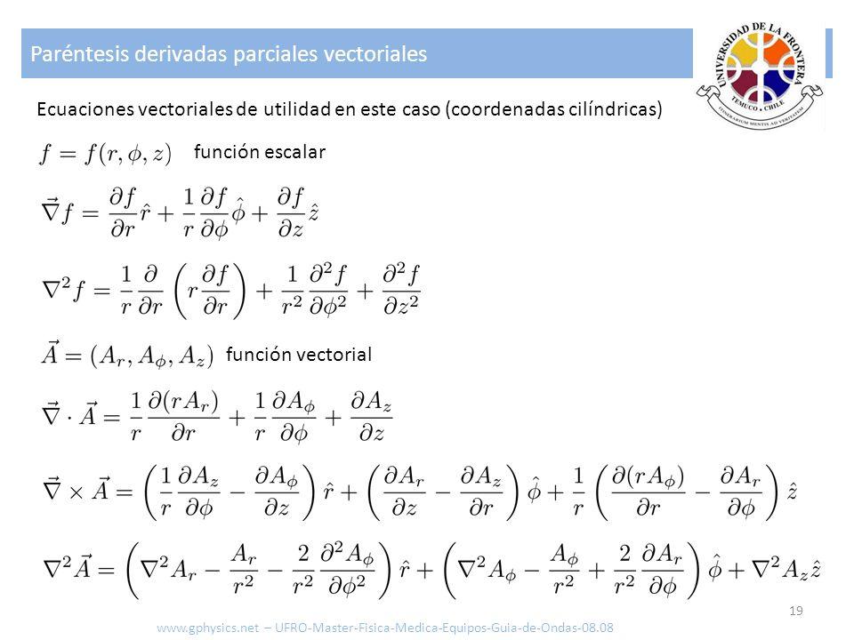 Paréntesis derivadas parciales vectoriales