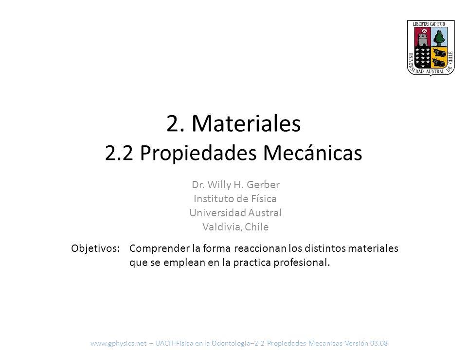2. Materiales 2.2 Propiedades Mecánicas