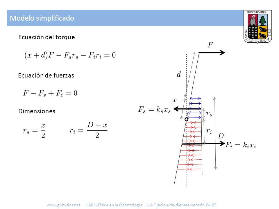 Modelo simplificado Ecuación del torque Ecuación de fuerzas