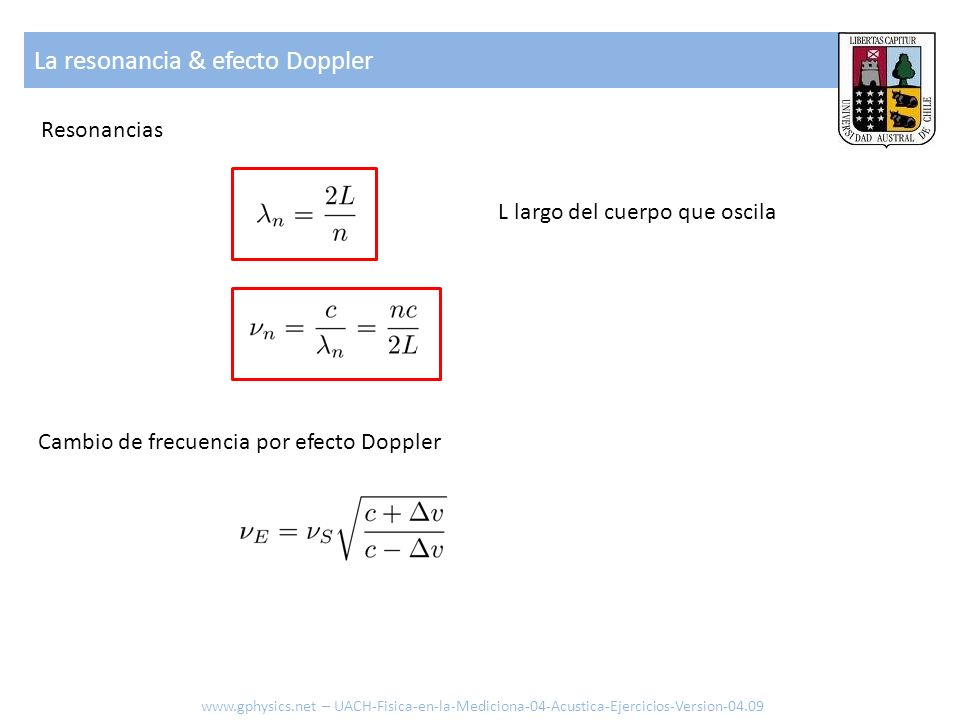 La resonancia & efecto Doppler
