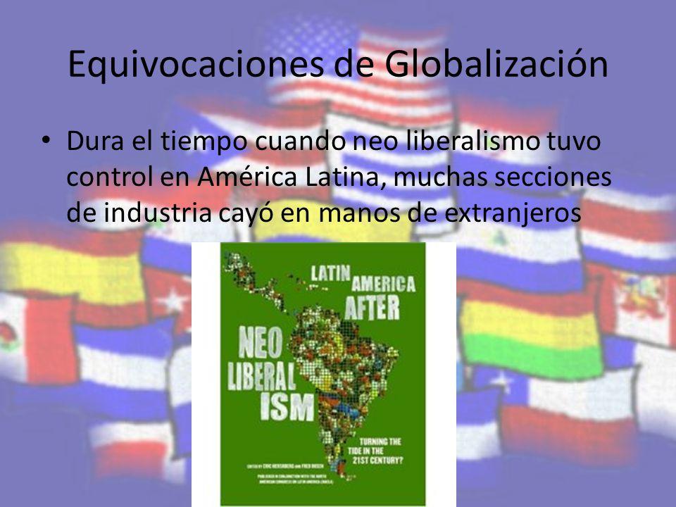 Equivocaciones de Globalización