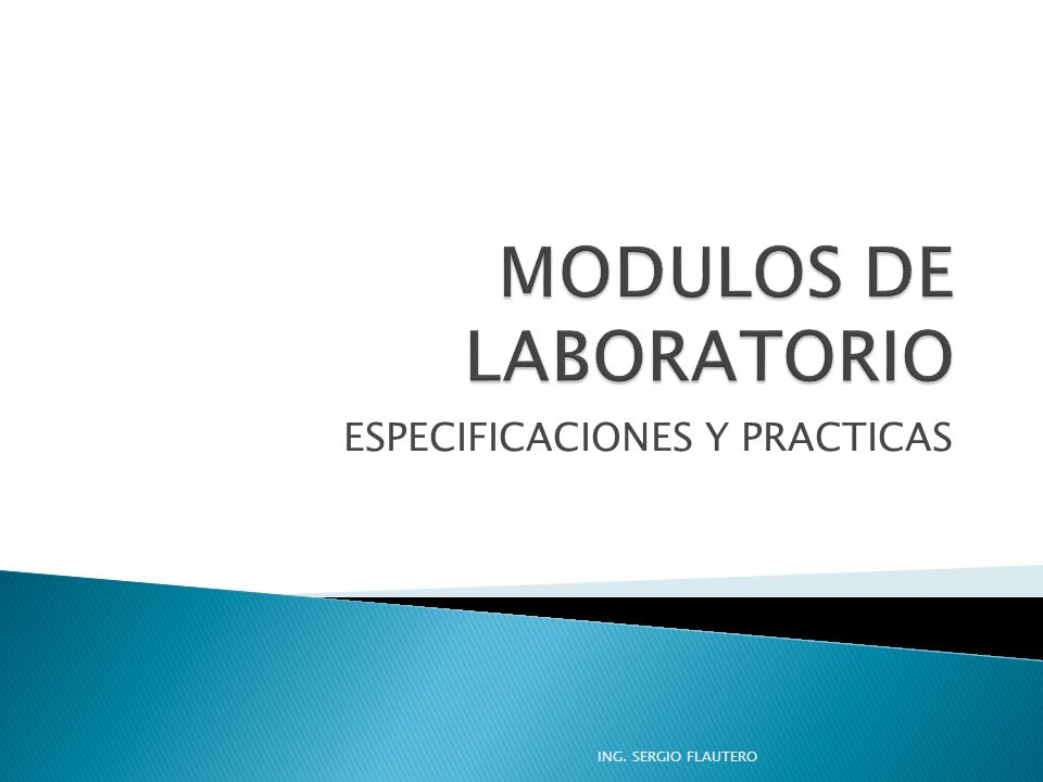 MODULOS DE LABORATORIO