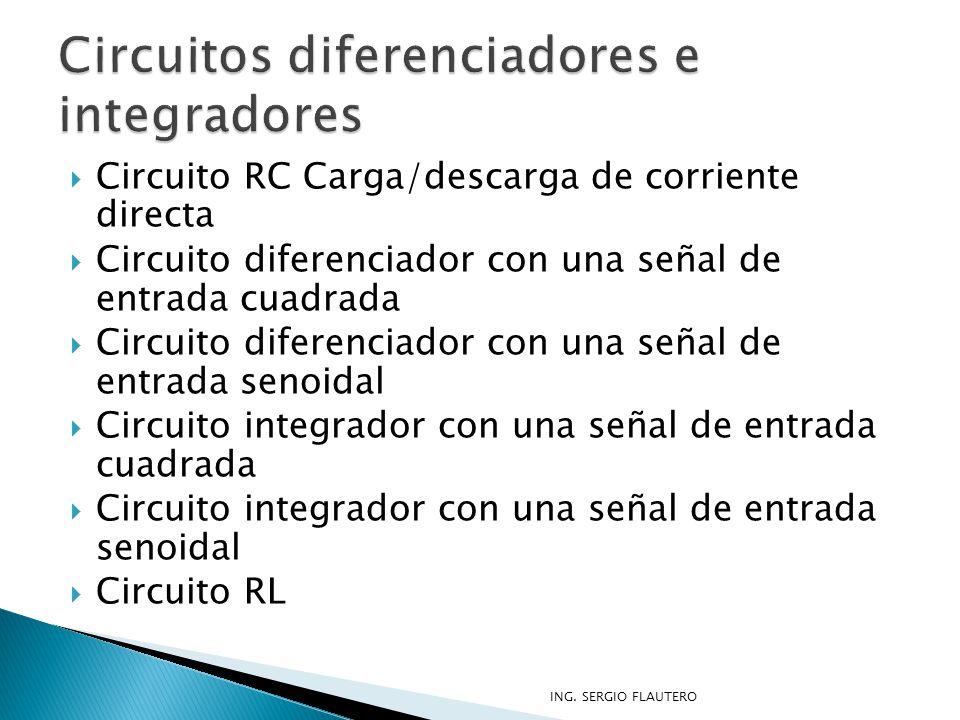 Circuitos diferenciadores e integradores