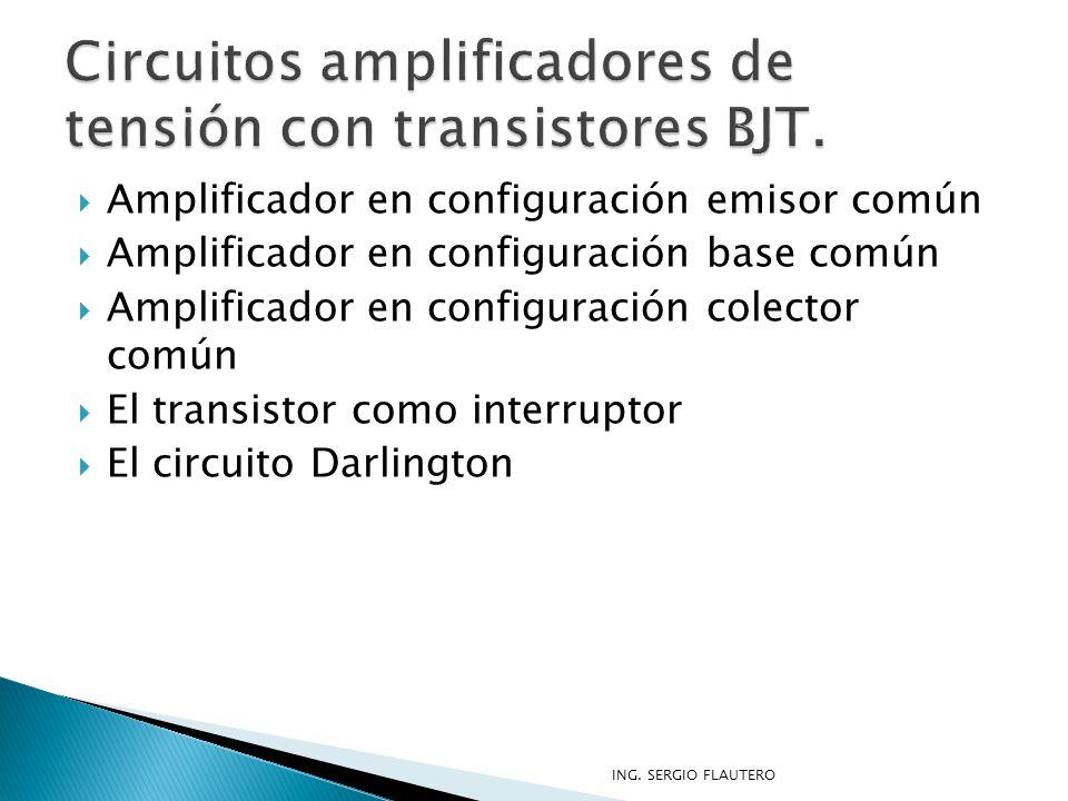 Circuitos amplificadores de tensión con transistores BJT.