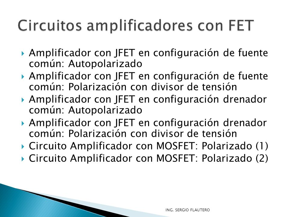 Circuitos amplificadores con FET