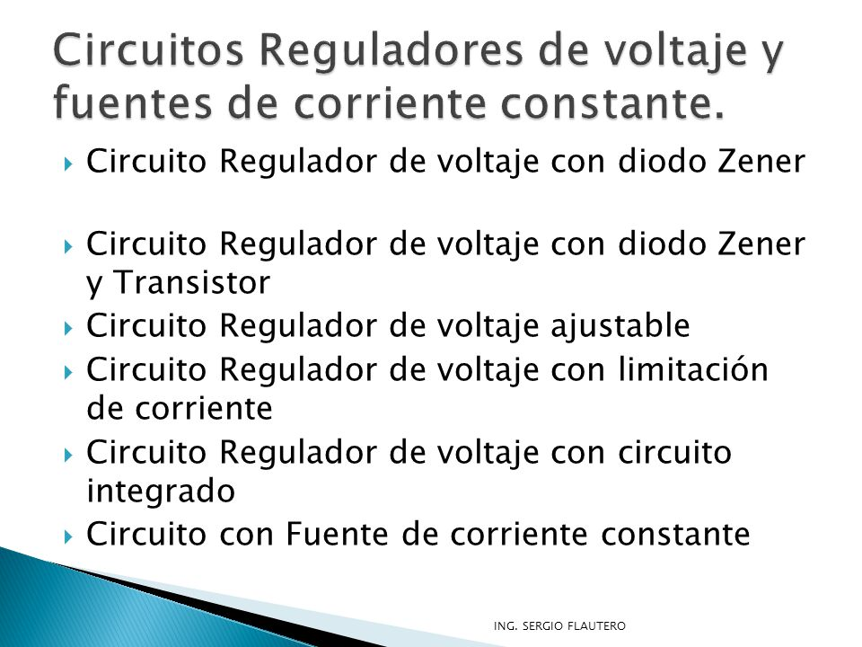 Circuito Regulador De Voltaje : Modulos de laboratorio ppt video online descargar