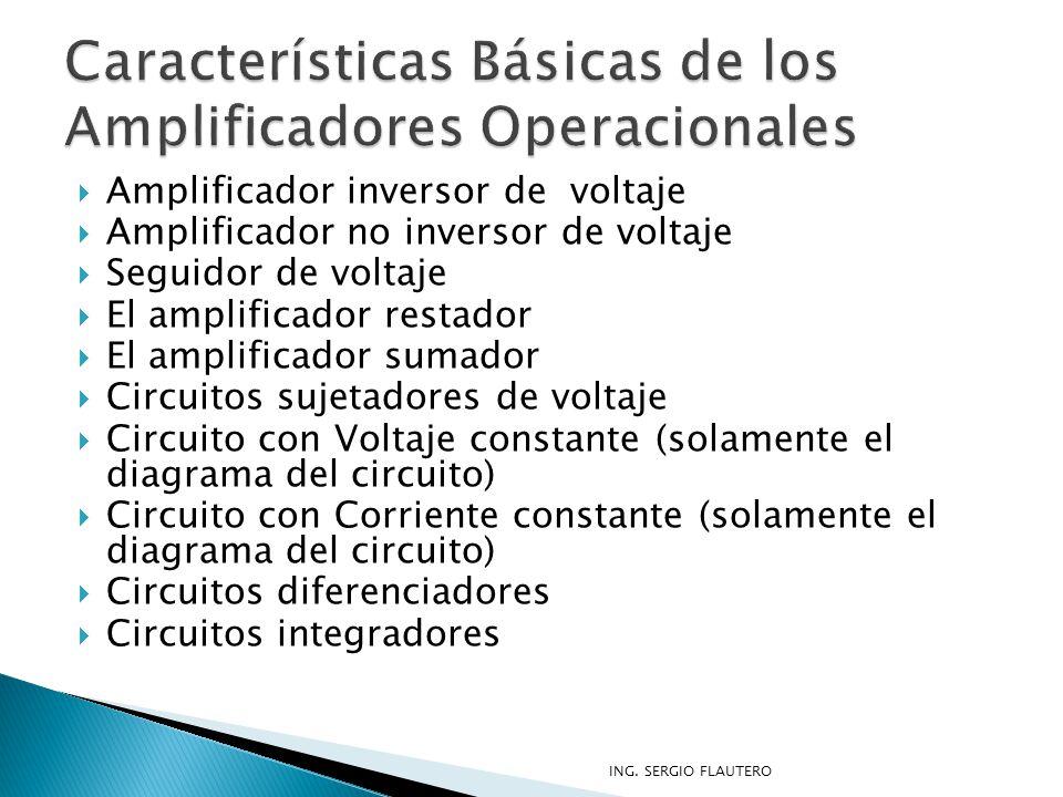 Características Básicas de los Amplificadores Operacionales