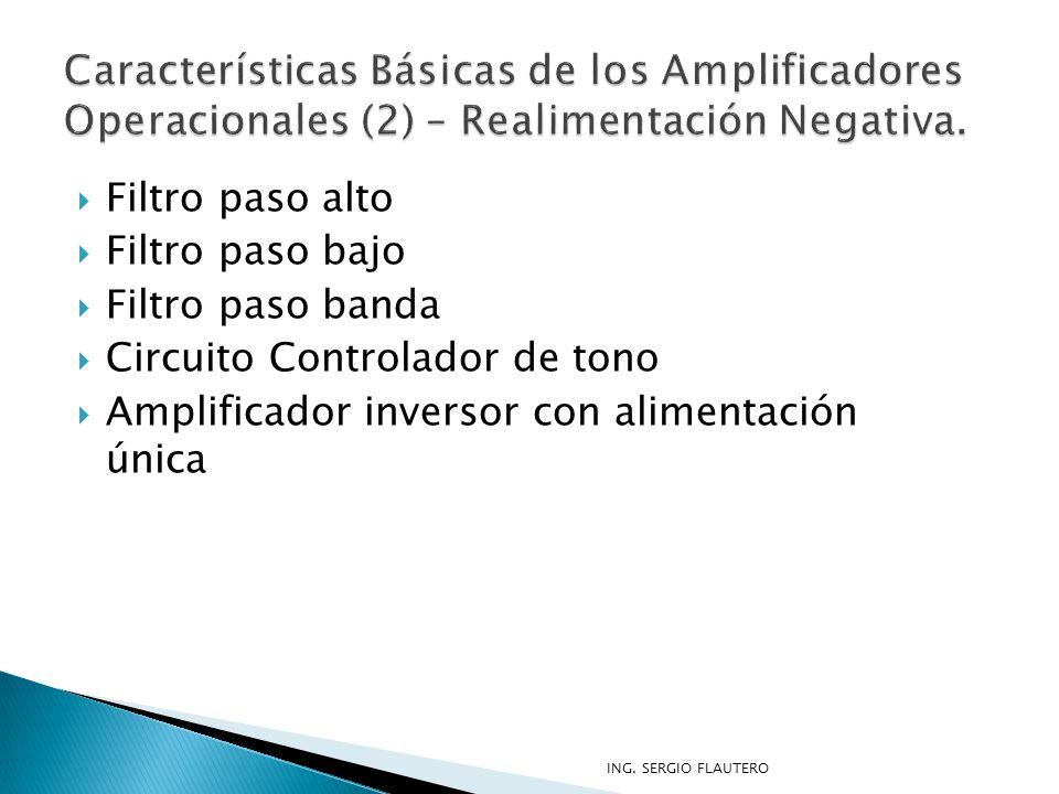 Características Básicas de los Amplificadores Operacionales (2) – Realimentación Negativa.