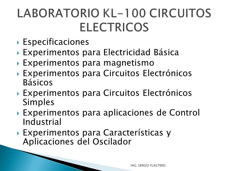 LABORATORIO KL-100 CIRCUITOS ELECTRICOS