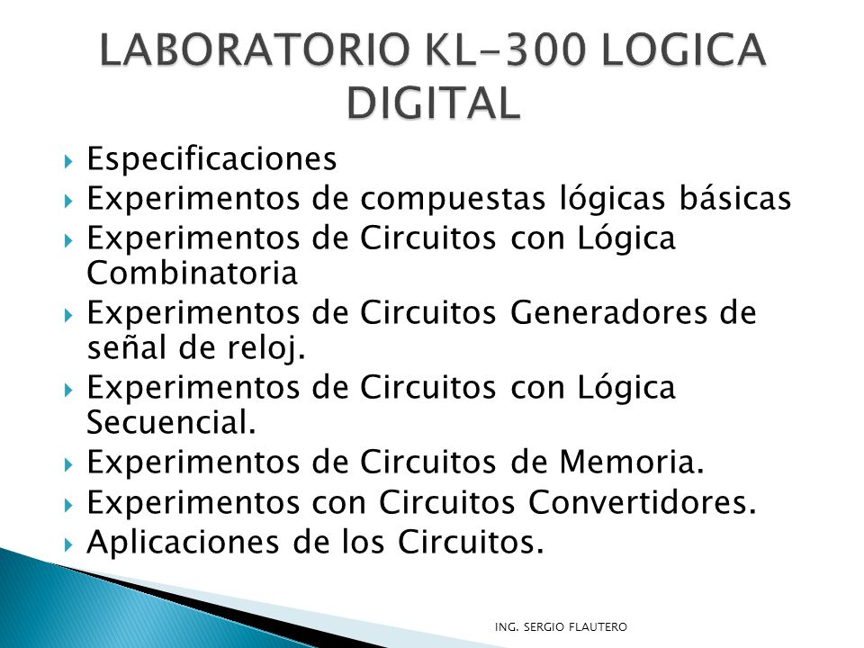 LABORATORIO KL-300 LOGICA DIGITAL