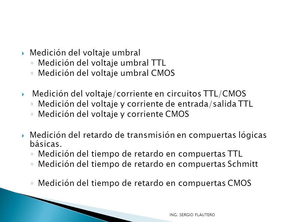Medición del voltaje umbral Medición del voltaje umbral TTL