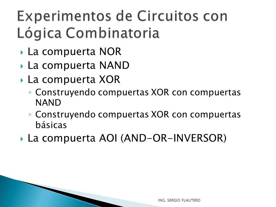 Experimentos de Circuitos con Lógica Combinatoria