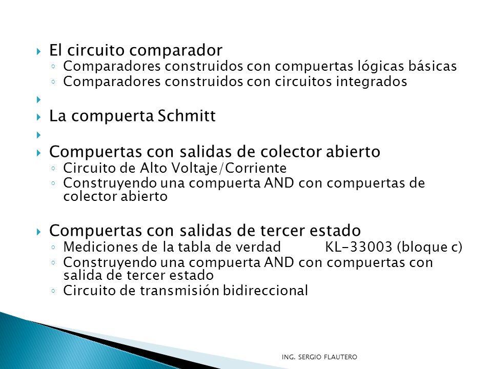 El circuito comparador