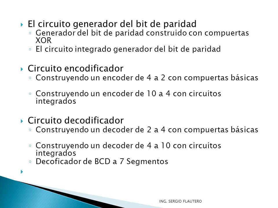 El circuito generador del bit de paridad