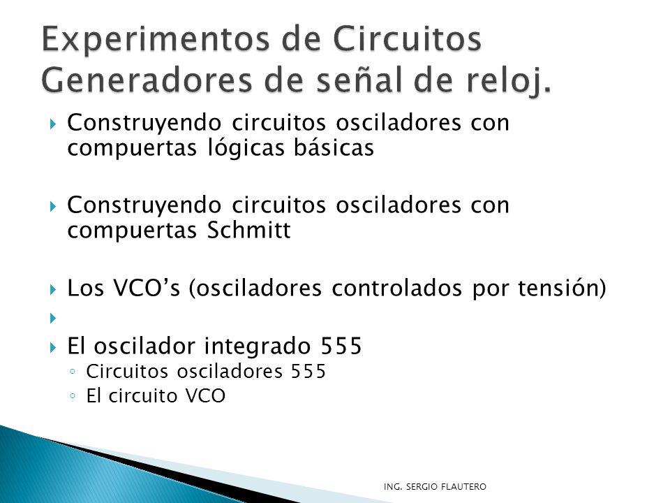 Experimentos de Circuitos Generadores de señal de reloj.