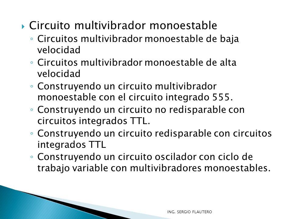 Circuito multivibrador monoestable