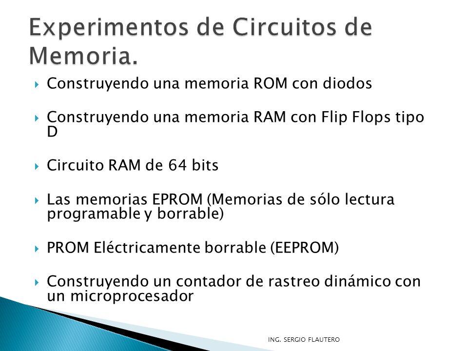 Experimentos de Circuitos de Memoria.