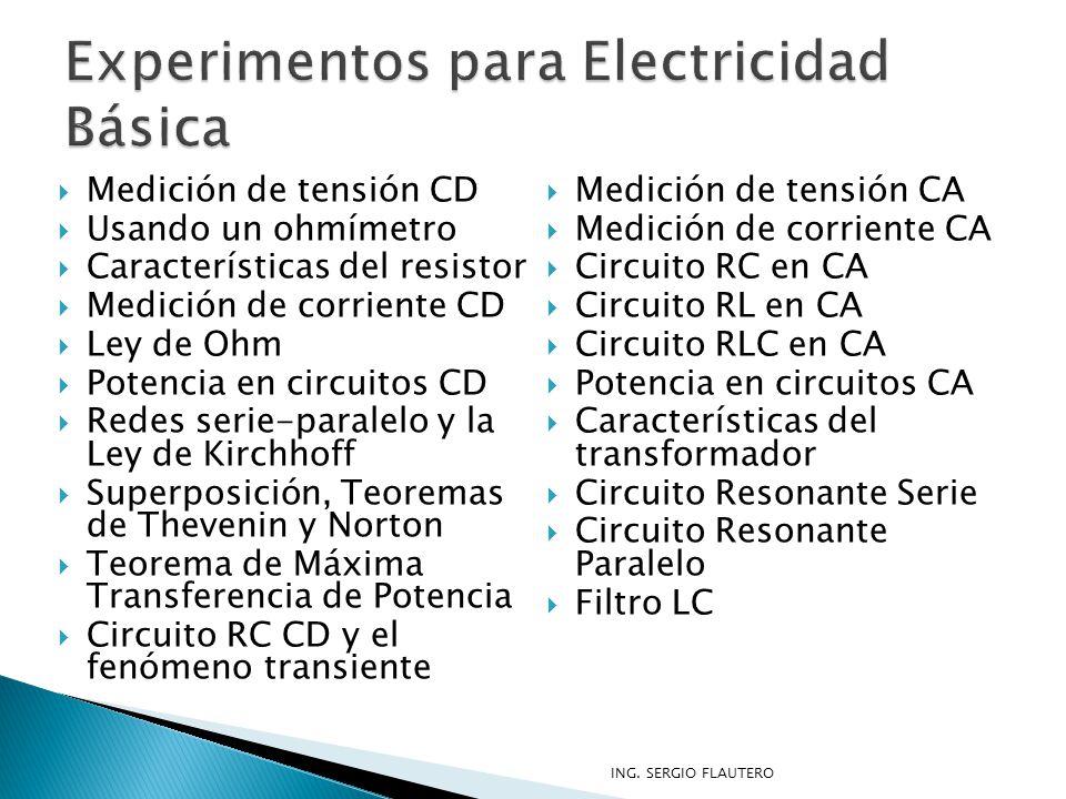 Experimentos para Electricidad Básica