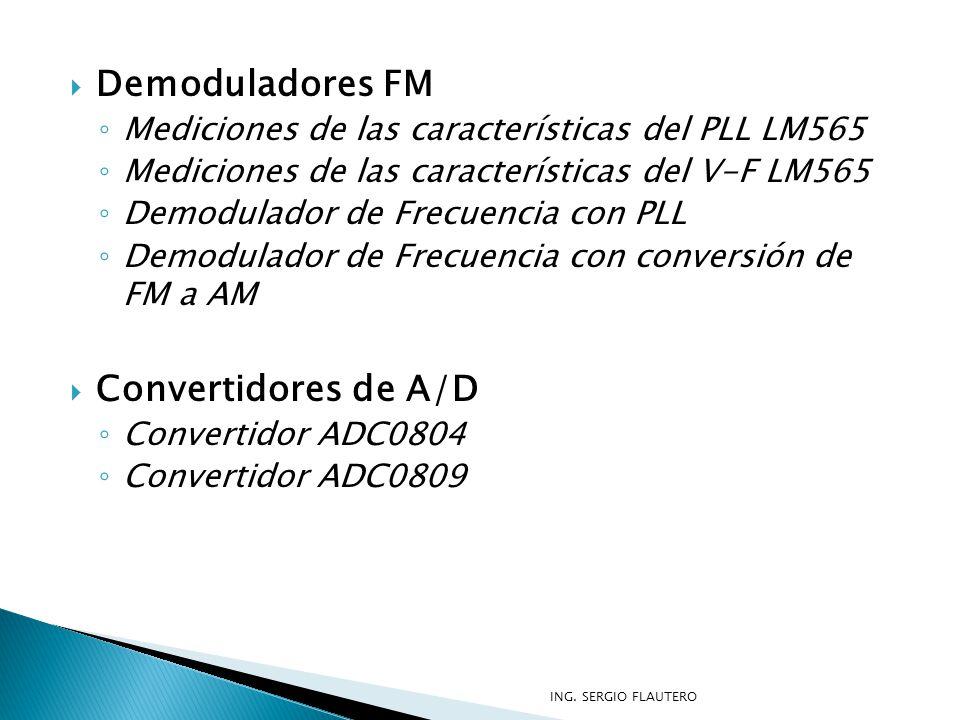 Demoduladores FM Convertidores de A/D