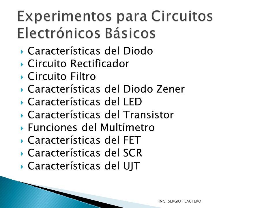 Experimentos para Circuitos Electrónicos Básicos