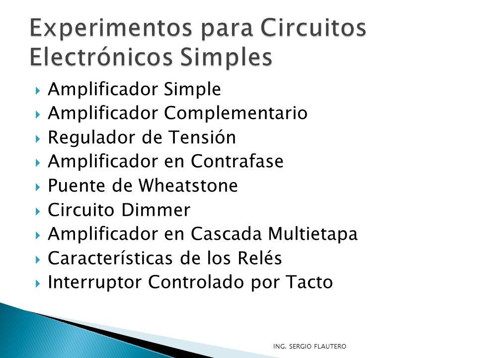 Experimentos para Circuitos Electrónicos Simples