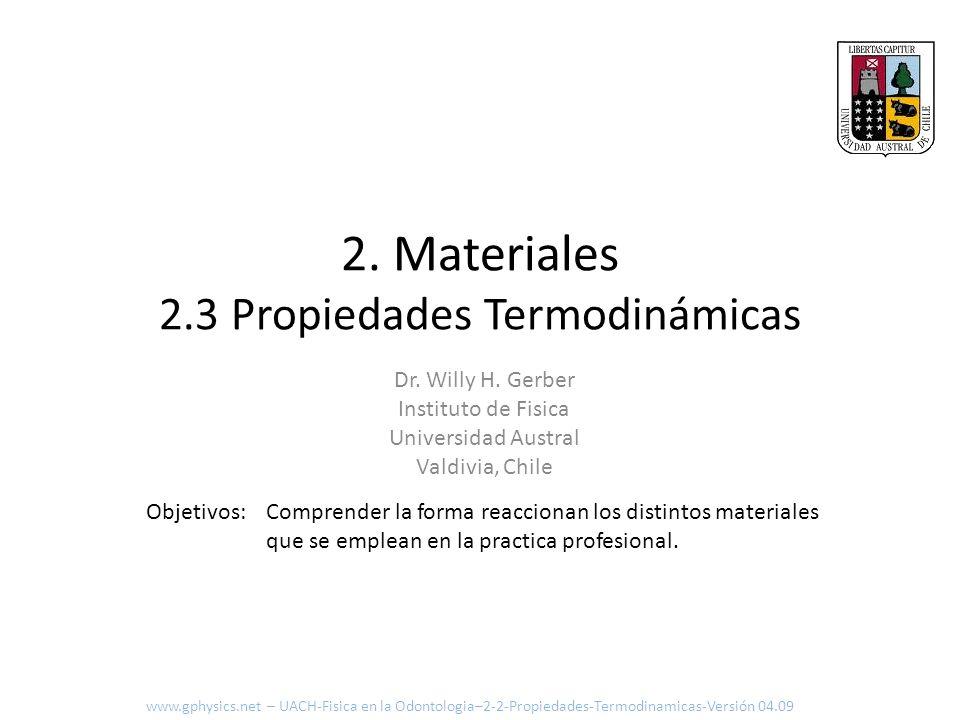2. Materiales 2.3 Propiedades Termodinámicas