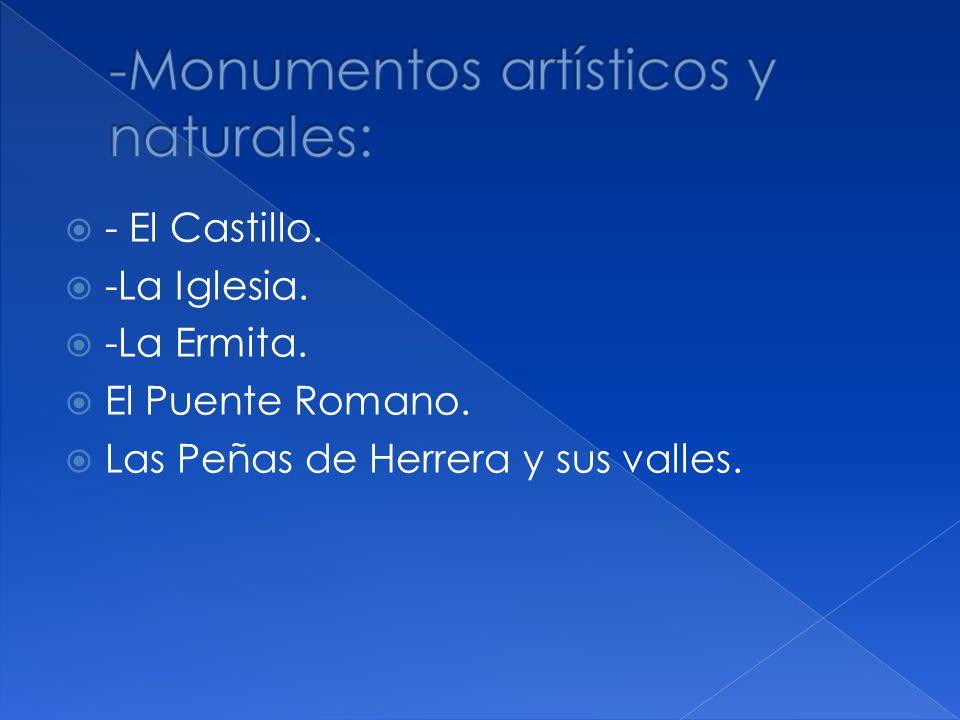 -Monumentos artísticos y naturales: